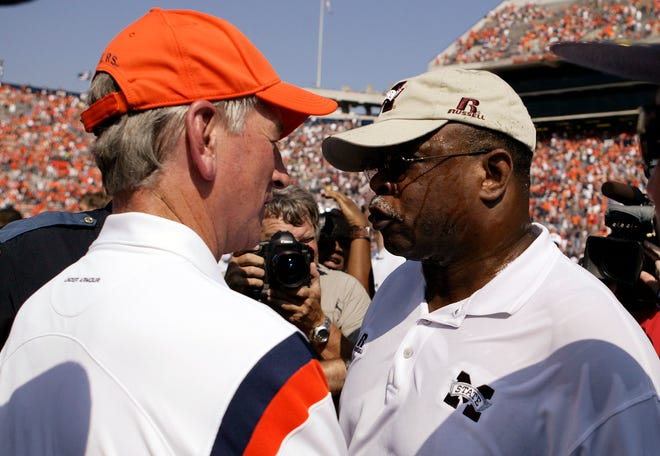 Former Auburn head coach Tommy Tuberville and former Mississippi State Bulldogs head coach Sylvester Croom will be part of the Gridiron Kickoff at Landmark Church on Aug. 8