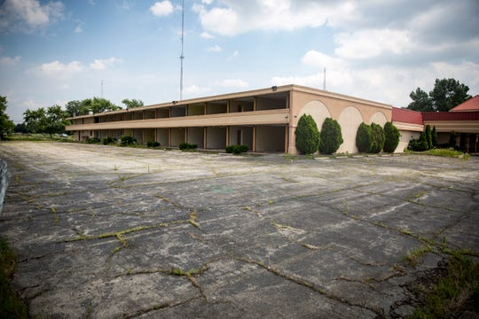 Gutted hotel rooms await further renovations at the former Red Carpet Inn at 3400 S. Madison St. The company that has been working on the building has been in contact with the city building commissioner but little is known about an updated timetable.