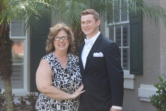 Gage Schrantz poses for a photo with his mother, Christine Schrantz.