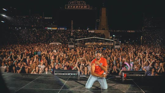 Luke Bryan performs in June 2019 at Gillette Stadium in Foxborough, Massachusetts.