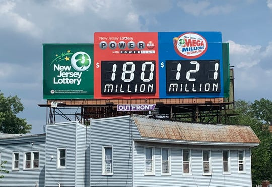 The Powerball jackpot was $180 million for the Wednesday, July 10, 2019 drawing.