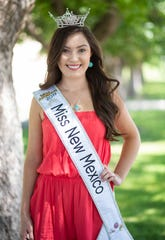 Miss New Mexico Misa Tran stands outside of  the Activity Center at New Mexico State University on June 20, 2019.