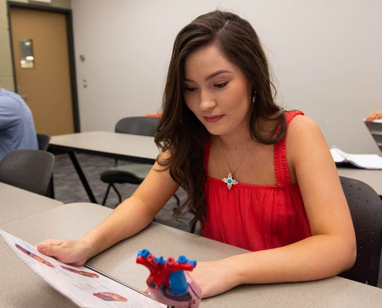 Miss New Mexico Misa Tran attends a class at the Activity Center at New Mexico State University, June 20, 2019.