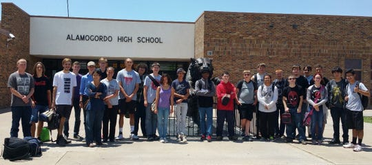 CyberCamp participants in 2017, the first year Alamogordo High School hosted the camp.