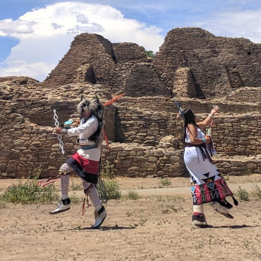 The Acoma Enchantment Dancers perform at last year's American Indian Cultural Arts Festival at Aztec Ruins National Monument. The festival returns this weekend with dance groups from the Zuni and Jemez pueblos.