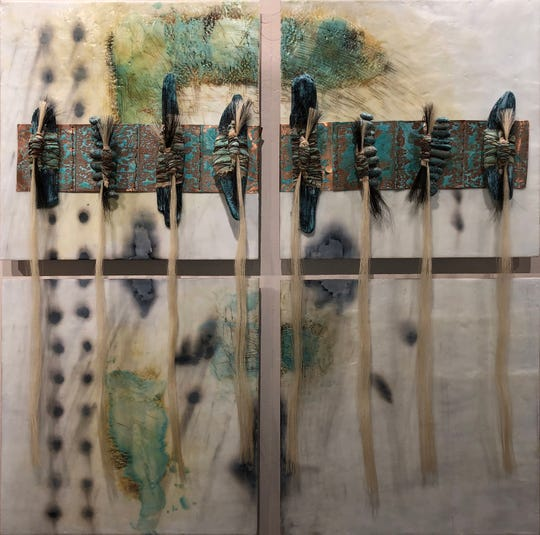 The encaustic work of multimedia artist Michael Billie will be included in this weekend's American Indian Cultural Arts Festival at Aztec Ruins National Monument.