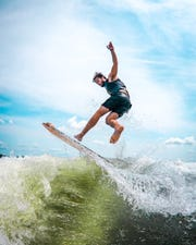 Catholic Central grad Nick Parros has worked his way up to becoming a pro wakesurfer.