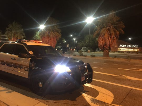 Riverside County sheriff's deputies on the scene in Rancho Mirage after the fatal shooting on July 9, 2019.