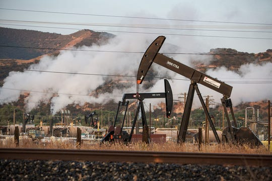 Oil drilling in San Ardo, Calif.