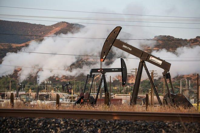 Oil drilling in San Ardo, Calif.