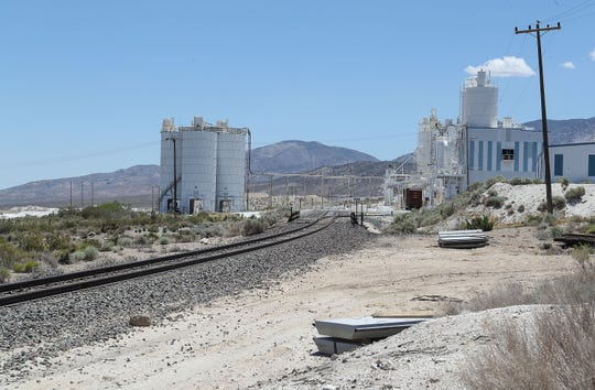 Omya California operates the White Knob limestone mine in Lucerne Valley, Calif. Its operations are seen here on June 19, 2019.