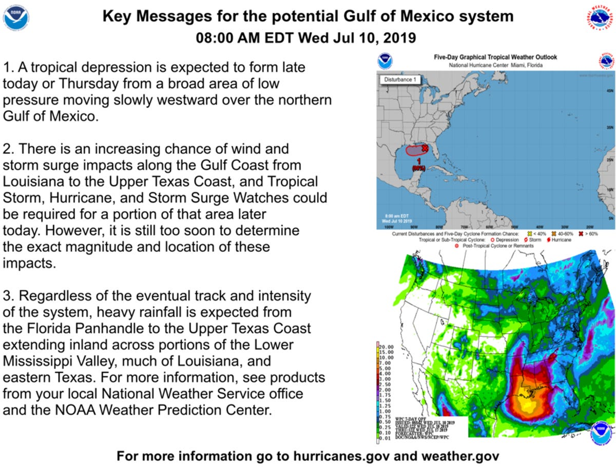 NWS: Wednesday update says heavy rainfall in the Panhandle