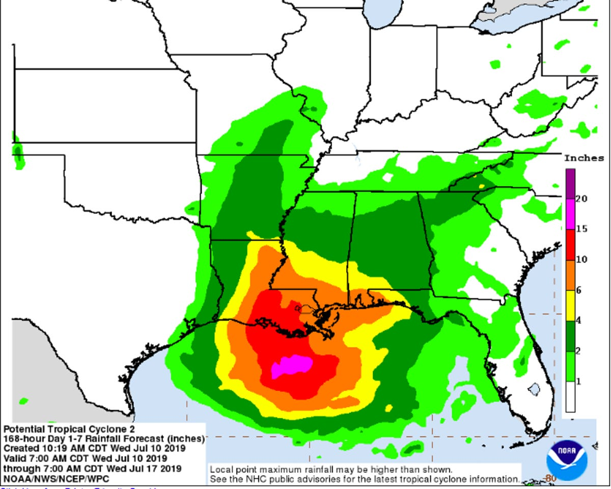 Possible Hurricane Barry: Pensacola to see heavy rain, waves