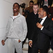 "Adriano ""Bubba"" Almony trails Christian Combs, the son of famed rapper Sean ""Diddy"" Combs."