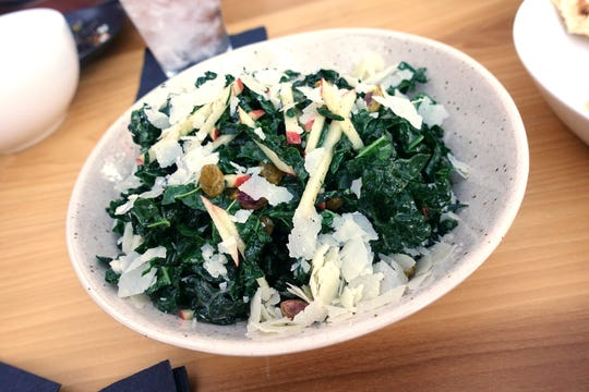 Kale salad with raisin, pistachio, Parmigiano and apple at Fellow Osteria in Scottsdale.