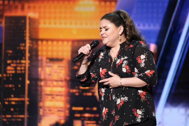 "Olivia Calderon, a detention officer with Tempe Police Department, auditions on NBC's  ""America's Got Talent"" during ""Auditions 6"" Episode 1407, which aired Tuesday, July 9."
