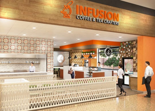 Rendering of the proposed Infusion Coffee & Tea at Phoenix-Mesa Gateway Airport