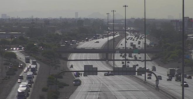 Westbound Interstate 10, near Loop 101, was temporarily closed after a pedestrian was fatally struck by a vehicle Wednesday, July 10, 2019.