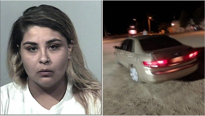 Staffany Ulyssa Montenegro, 25, was last seen driving a gold Honda sedan after the robbery of a fireworks stand turned fatal.
