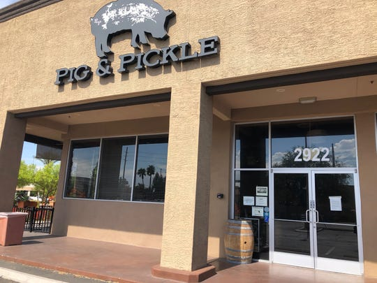 The exterior of Pig & Pickle in Scottsdale. The restaurant closed suddenly on July 3.