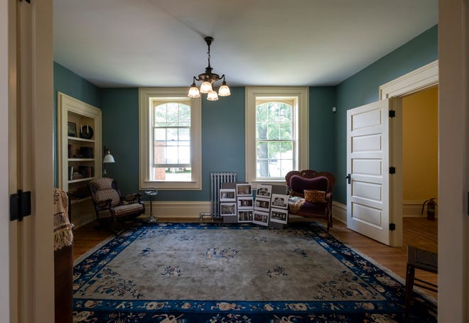 The parlor and sitting rooms were the last two rooms to be restored on the first floor of the south half ot he keeper's duplex.