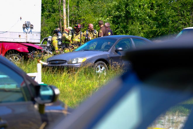 Rescue crews responded to a vehicle fire near Cleveland Street Wednesday morning.