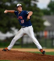 Landon Ness, seen here in a file photo, got the win Sunday in the York-Adams American Legion title game against New Oxford.