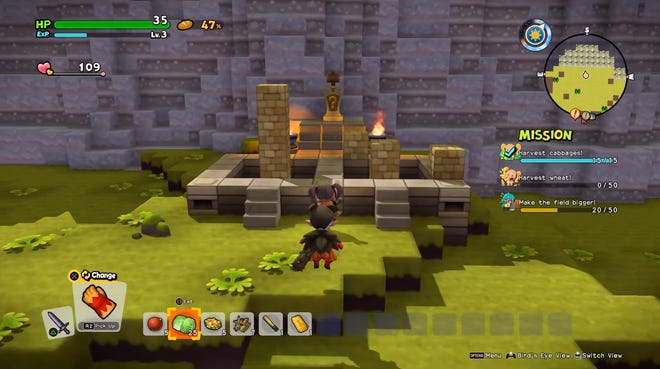 One of several Builder Puzzle locations in Dragon Quest Builders 2. Solving these puzzles will reward you with a mini medal.