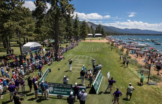 The American Century Championship at Edgewood Tahoe Golf Course in Stateline is Friday-Sunday.