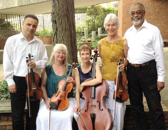 Chanticleer String Quartet will perform free concerts around Richmond during its 43rd Summer Music Festival. Members are Stefan Xhori (from left), violin; Jennifer Smith, viola; Elizabeth Gottling Mendoza, cello; Caroline Klemperer Green, violin; and guest artist William F. McDaniel, piano.
