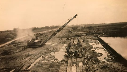 The first phase of dam building begins in San Angelo for the construction of Lake Nasworthy in 1929. The dam was still uncompleted in March of 1930 when water was allowed into the reservoir for the first time.