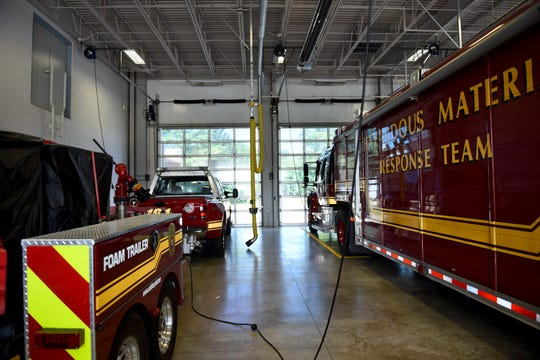 Equitment rests in the garage of Salisbury Fire Department, on Tuesday, June 11, 2019. The department receives a wide variety of calls every day, with about 3,000 fire-engine related calls per year and about 100 structure fires, according to Deputy Chief James Gladwell.