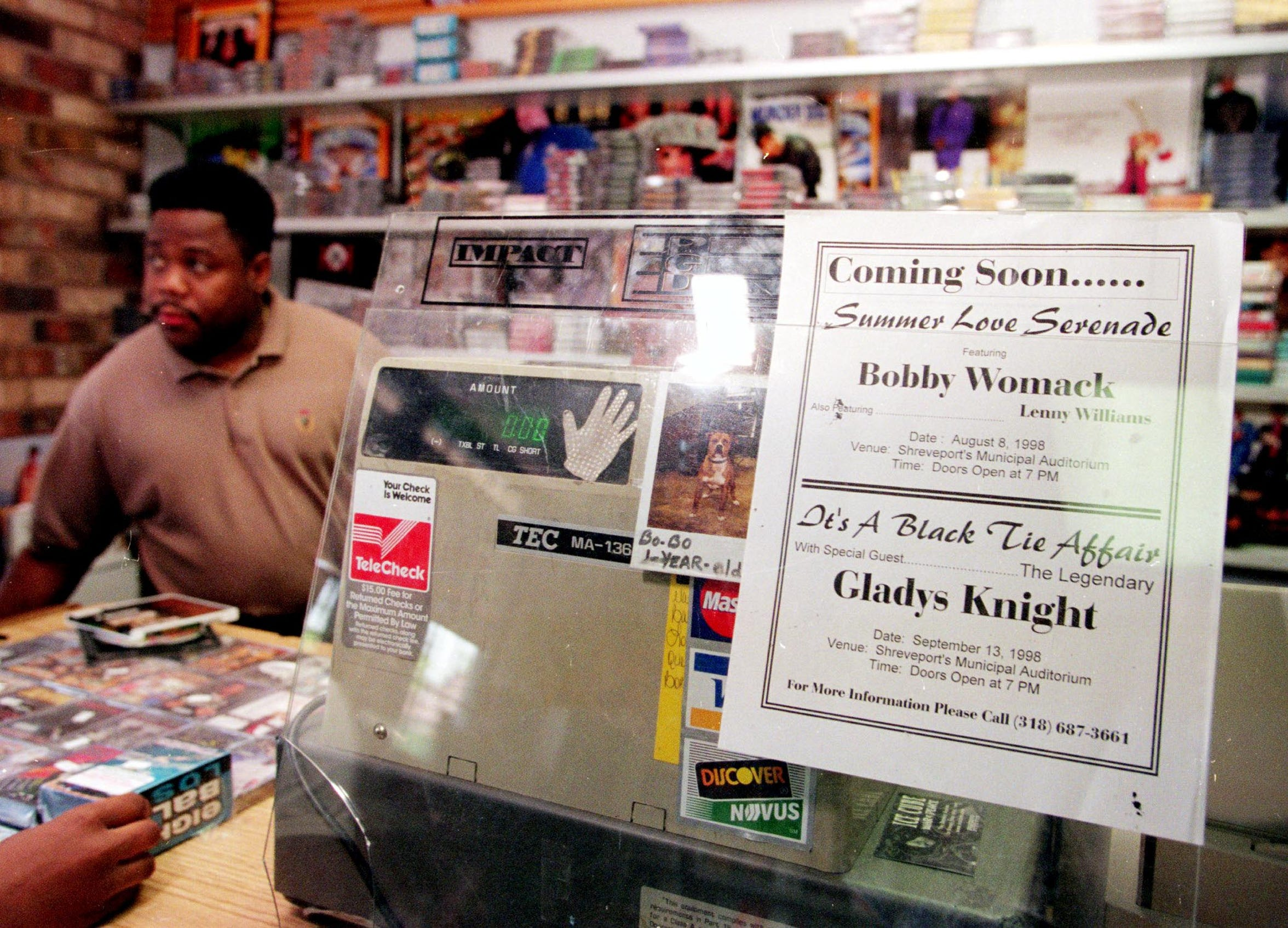 A 1998 photo of Garland Jones, in his store Garland's Super Sounds on Linwood Avenue.