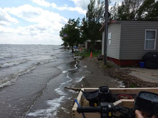Areas around Lake Thompson in Kingsbury County, South Dakota, have been flooded for the last two months after extreme snow and flooding throughout March and April. Residents are asking for governmental help.