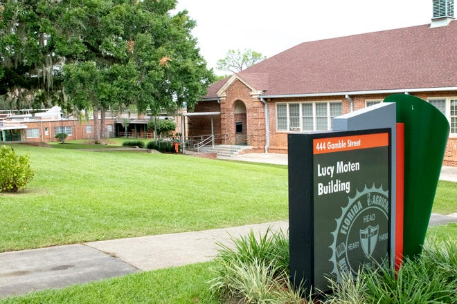 The current Lucy Moten Building on Florida A&M University's campus houses the Office of Recruitment.