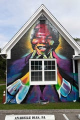 Office of Tallahassee attorney Anabelle Dias with a mural of Nelson Mandela painted on the exterior wall. Dias thought she had found herself a new home in Betton Hills, instead she found racist language half a century old, which banned minorities from owning property in the neighborhood.