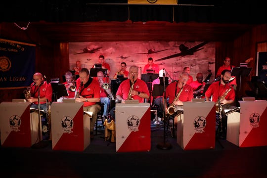 The Tallahassee Swing Band performs at the American Legion Post 13 at Lake Ella Tuesday, July 9, 2019.