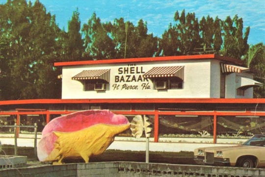 The Shell Bazaar, along U.S. 1 in Fort Pierce in the 1960s.