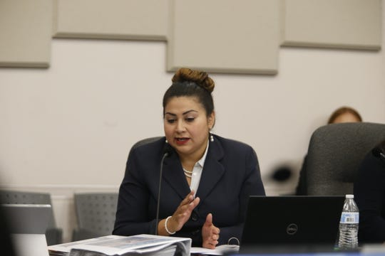 District 3 city rep. Cassandra Hernandez during a budget meeting on July 10, 2019.