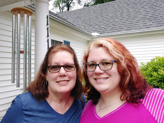 Allison Wells, right, and her mother