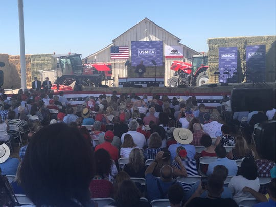 Vice President Mike Pence addressed a crowd Wednesday  July 10 in Lemoore where he urged the passage of the United States-Mexico-Canada Agreement.