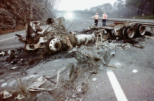 The propane truck crash and explosion that happened on Interstate 287 in White Plains and damaged homes on Grant Ave and Clinton Street on July 27, 1994