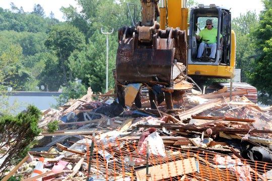 What's left of the former Howard Johnson's turned El Dorado West Diner in Tarrytown on July 20, 2017.