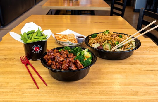 A sample of the food offered at Teriyaki Madness, a new fast-casual Japanese restaurant coming to Concord Pike in the fall.