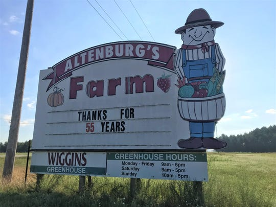 Altenburg's Farm thanks its customers for 55 years. Photo taken July 10, 2019