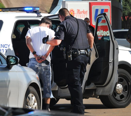 Wichita Falls police make an arrest after seeing a small rash of vehicle burglaries, Wednesday afternoon. WFPD spokesman Sgt. Harold McClure urges the public to lock their car doors every time they leave their vehicle to avoid tempting a would-be-burglar.