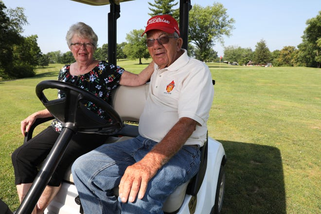 Tim and Karen Messerschmidt own and operate the Wildfire Golf Club. And, Karen says, they have the best hot dogs between New Concord and Bloomfield.