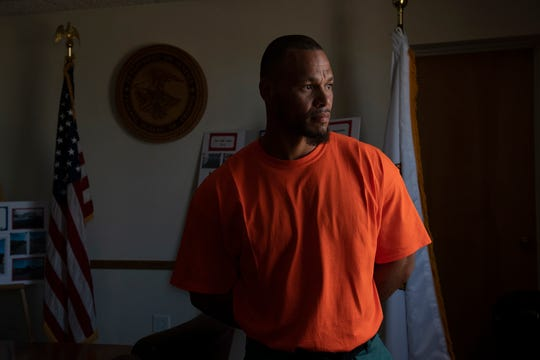 "Inmate Little Lee Ragsdale, 36, at the Englewood Federal Correctional Institution.  He was convicted on drug offenses and is serving time in the facility. ""I never thought I would get a chance to do something like this in prison,"" said Littlelee Ragsdale, a 36-year-old Wyoming man who is in the midst of a nine-year term for methamphetamine and heroin distribution. ""This a great opportunity for a real career outside of here. It's not just one of those jobs to get by. Re-entry (to the free world) is now a realistic goal."""