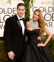 Sofia Vergara and her former fiancé Nick Loeb at the Golden Globes in 2014.