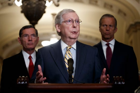 Westlake Legal Group 1486d1e8-7fe8-49f5-8af2-ba4e86f345f0-MCCONNELL Mitch McConnell declines to single out Trump over racist tweets; says 'all of us' should tone down rhetoric